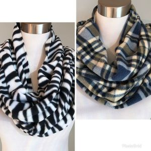 Lot of 2 Old Navy Scarves Zebra and Blue Green